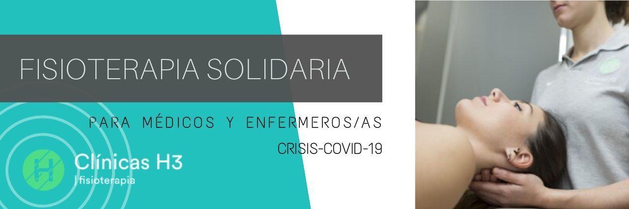 Clínicas H3 fisioterapia solidaria para médicos y enfermeros coronavirus en Madrid