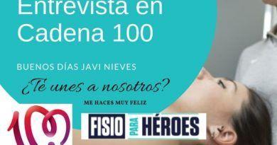Entrevista en cadena 100 a fisioterapia para Heroes