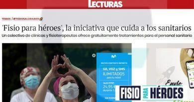 Fisio para Heroes en revista Lecturas fisioterapia solidaria