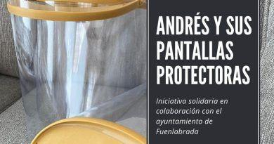Pantallas protectoras, iniciativa solidaria ayuntamiento de Fuenlabrada