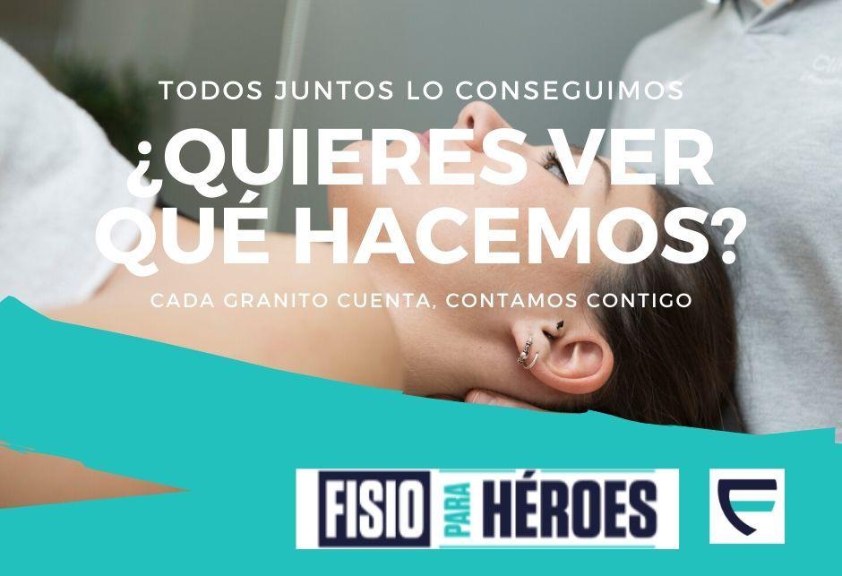 Iniciativas solidarias en fisioterapia para heroes - que hacemos