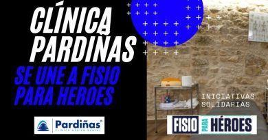Clínicas PArdiñas se une a fisio para heroes con fisioterapia solidaria